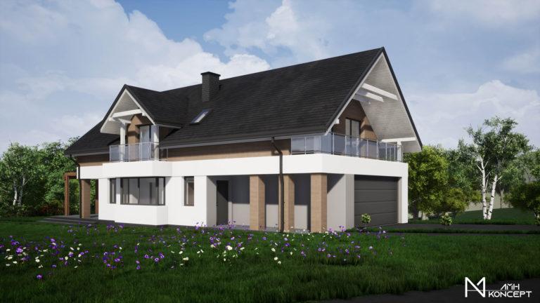 Projekt budynku jednorodzinnego w Porażu